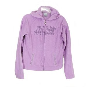 Nike embroidered logo lilac hoodie size medium